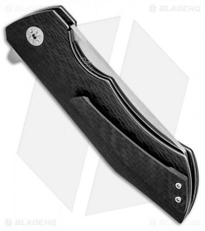 "Maserin AM-2 Liner Lock Flipper Knife Carbon Fiber (3.5"" Satin) 378/CN"