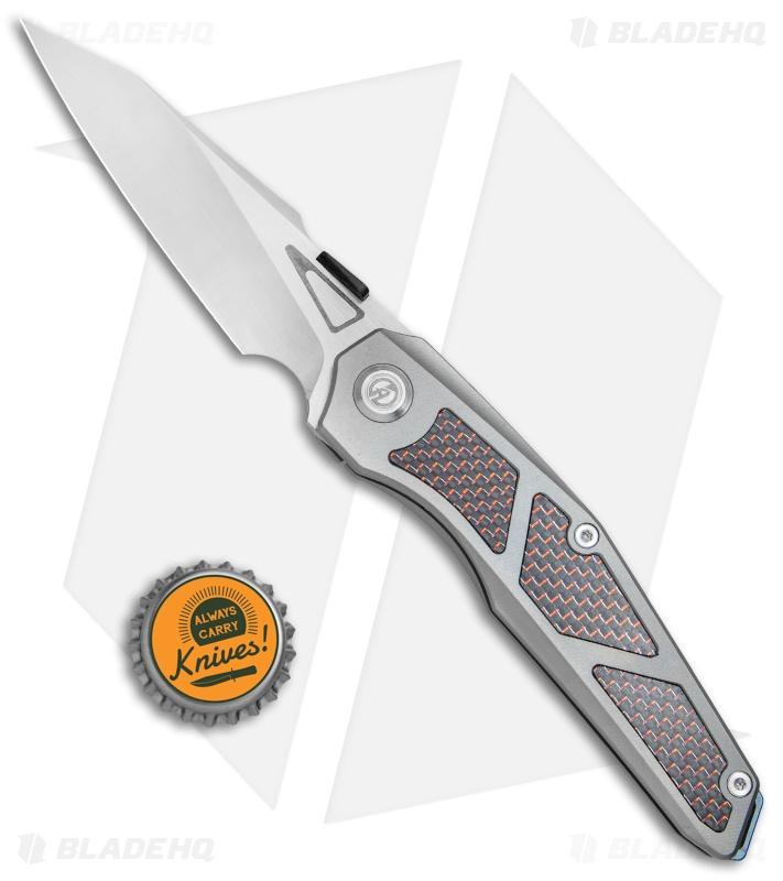 Maxace Knives Glede Frame Lock Knife Blasted Ti/Red LSCF (3 75
