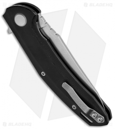 "Maxace Knives Wind Flipper Liner Lock Knife Black G-10 (3.875"" Stonewash)"