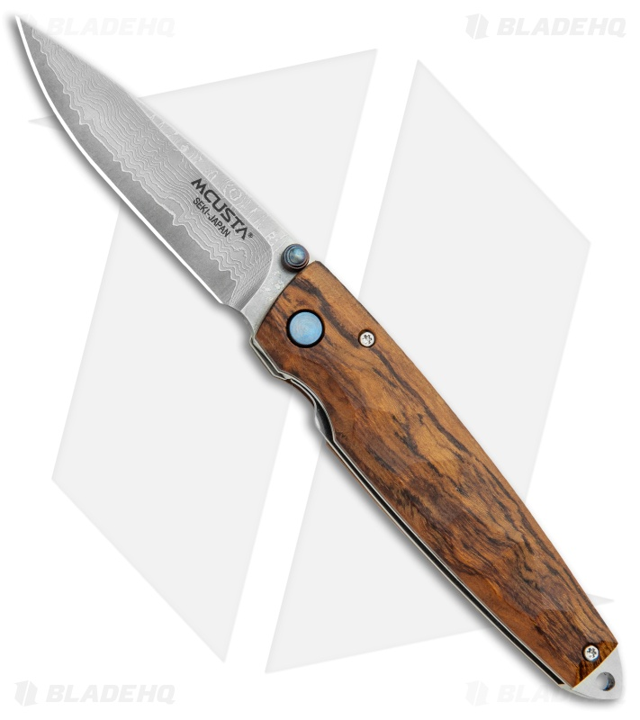 "Mcusta Tactility Liner Lock Knife Ironwood (2.75"" Damasteel) MC-0077DI"