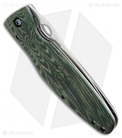 "Mcusta Rikyu Liner Lock Knife Green Micarta (3.75"" Satin) MC-0184"