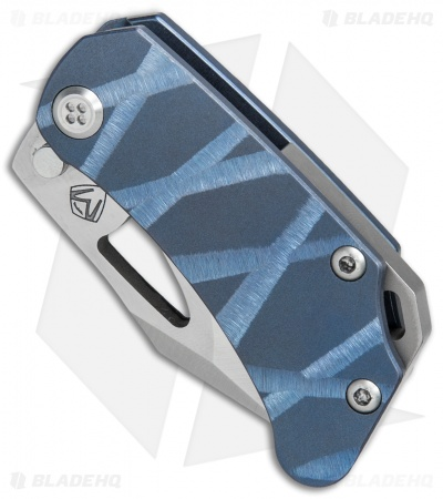 "Medford Eris Frame Lock Knife Custom Blue Ti (2"" Satin) MKT"