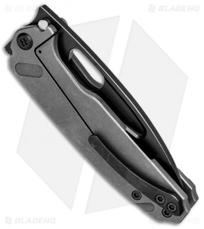 "Medford Infraction Frame Lock Knife Tumbled Ti (3.6"" S35VN Black)"
