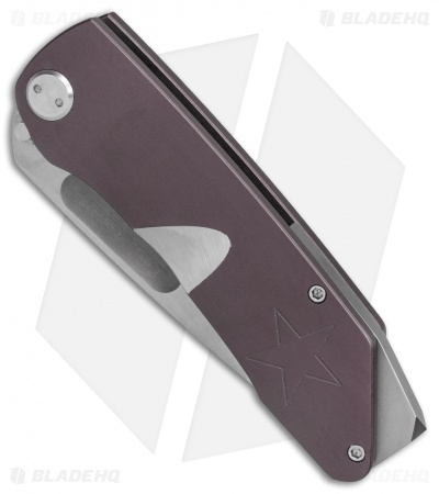 "Medford The General Frame Lock Knife Violet Ti w/ Star (4"" Stonewash) MKT"