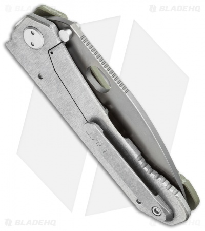 "Medford 187DP Frame Lock Knife OD Green G-10 (4.25"" Gray PVD) MKT"