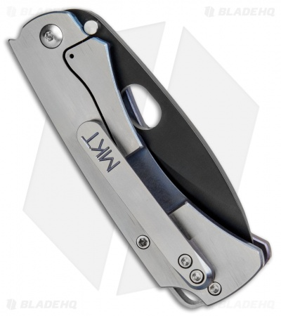 "Medford Colonial T Frame Lock Knife Satin/Anodized Ti (3.5"" Black 3V) MKT"