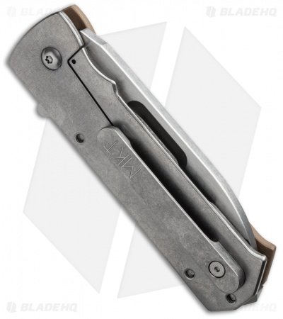 "Medford TFF-4 Sub-Compact Frame Lock Knife Coyote/Tumbled (3.4"" Stonewash) MKT"