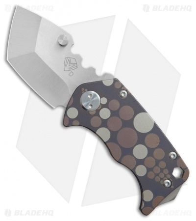 "Medford Panzer Tanto Frame Lock Knife Blue Ano Dots (2.5"" Tumbled) MKT"