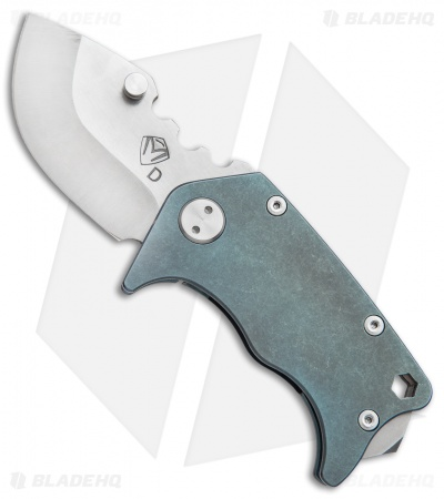 "Medford Panzer Drop Point Knife Teal Titanium (2.5"" Tumbled) MKT"
