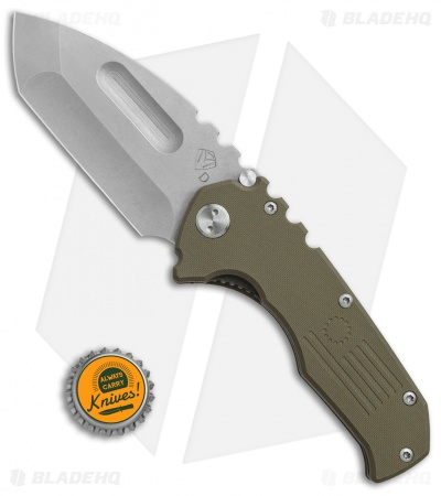 "Medford Production Praetorian Liner Lock Knife OD Green G-10 (3.75"" SW) MKT"
