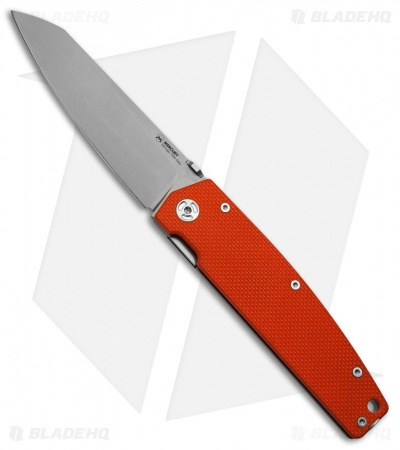 "Mercury Logan Liner Lock Knife Orange G-10/Ti (3.6"" Bead Blast)"
