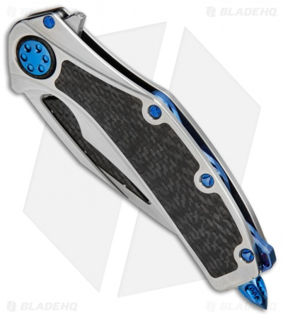 "Marfione Custom Super Matrix-R Knife Titanium/Carbon Fiber (3.75"" Mirror/CF)"