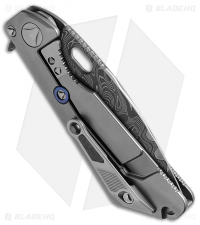 "Marfione / Strider Custom MSG-3.5  Knife Ti/CF (3.5"" Armor Core Damascus)"