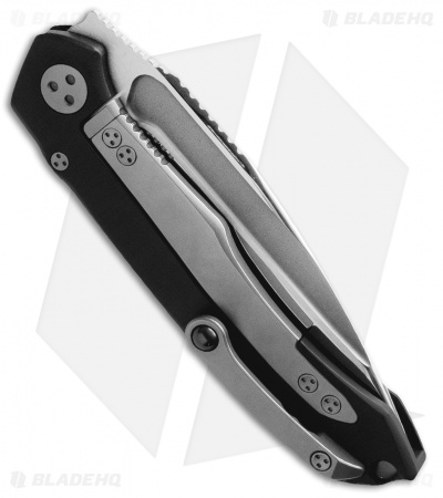 "Marfione Custom Anax Integral Frame Lock Knife Black Aluminum (3.75"" Mirror)"