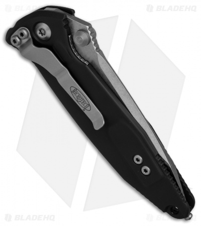 "Microtech Socom Elite Tanto Manual Knife Black (4"" Stonewash Serr) 161-11"