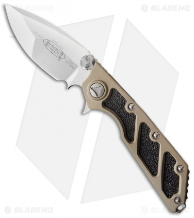 "Microtech DOC Flipper Knife Tan Aluminum (3.75"" Satin) 153-4TA"