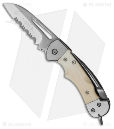 "Myerchin Gen. 2 Crew Pro Liner Lock Knife Natural Bone (2.5"" Satin Serr)"