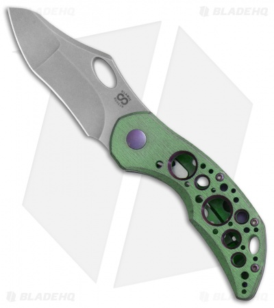 "Olamic Cutlery Busker Gusto Frame Lock Kinetic Acid Rainforest (2.5"" Stonewash)"