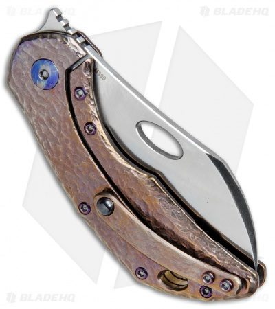 "Olamic Cutlery Busker Largo Frame Lock Knife Purple Molten Ti (2.5"" Satin)"