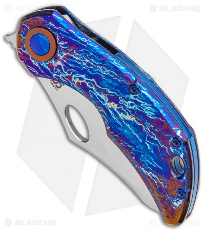 "Olamic Cutlery Busker Semper Frame Lock Knife Purple Entropic (2.5"" Satin)"