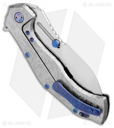 "Olamic Cutlery Soloist Scout Frame Lock Knife Frosty Titanium (4.3"" Satin)"