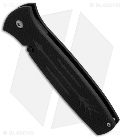 "Ontario OKC Dozier Arrow Liner Lock Folding Knife Black G-10 (3.6"" Black)"