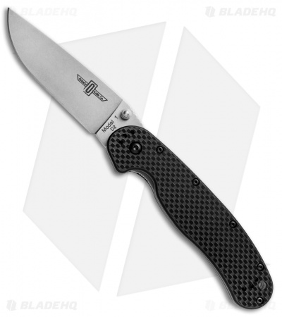 "Ontario RAT Model 1 Liner Lock Knife G-10/Carbon Fiber (3.625"" D2 SW) 8882CF"
