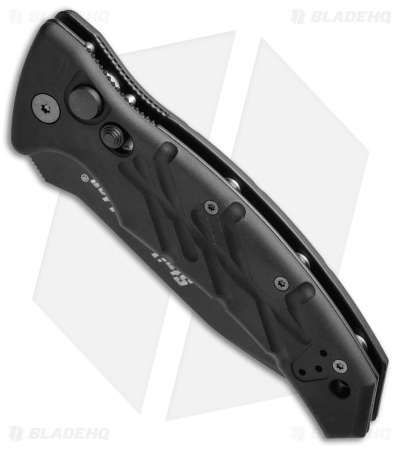 "Ontario SF-3S Strike Force Tanto Automatic Knife Black (3.75"" Black Serr)"