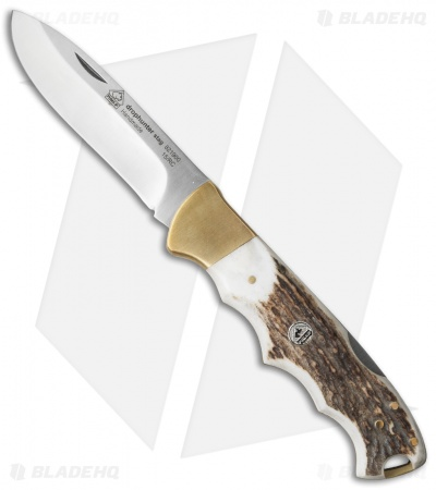 "Puma IP Knives Drophunter Lockback Knife Stag Horn (3.5"" Satin)"