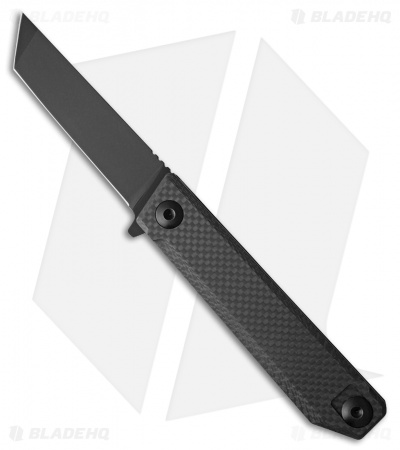 "Quartermaster QSE-15 ""The Fonz"" Frame Lock Knife Carbon Fiber (4"" Limo Tint)"