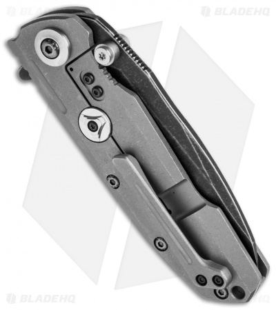 "Reate Knives District 9 Frame Lock Knife Titanium (3.75"" Black SW) D9-A"
