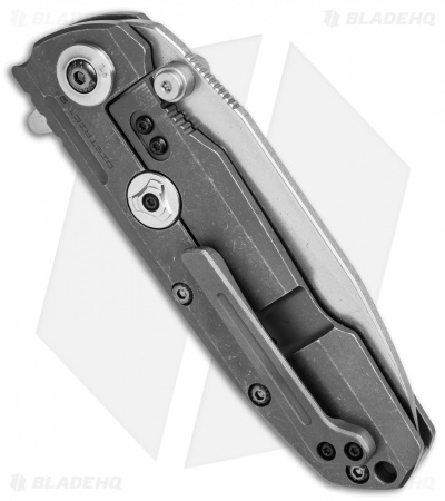 "Reate Knives District 9 Tanto Frame Lock Knife Titanium (3.75"" Stonewash) D9-B"
