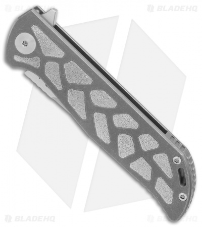 "Reate K-2 Frame Lock Knife Engraved Titanium (3.8"" Satin)"