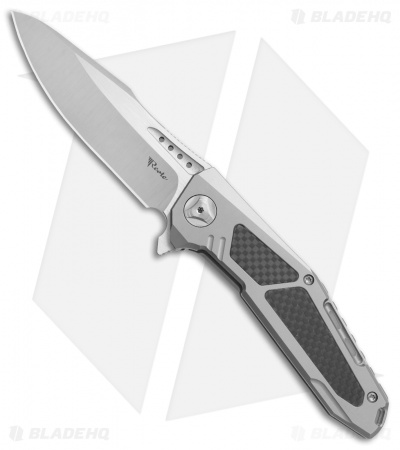 "Reate K-3 Frame Lock Flipper Knife Carbon Fiber/Ti (3.875"" Satin)"