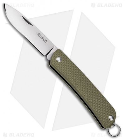 "RUIKE S11 Criterion Collection Compact Slip Joint Knife Green G-10 (2"" Satin)"