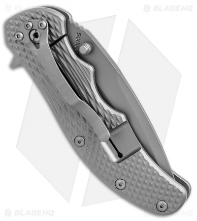 "Schrade D2 Drop Point Frame Lock Knife Titanium (3.375"" Gray) SCH601Ti"