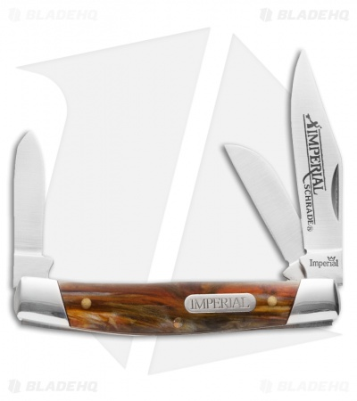 "Schrade Imperial Stockman Knife 3.375"" Amber Swirl IMP15S"