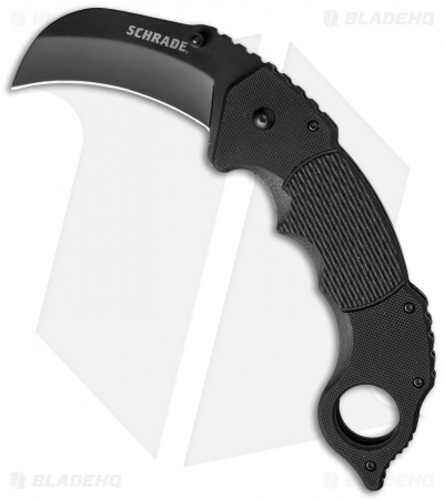 "Schrade Folding Knife Karambit Black G-10 (3"" Black)"