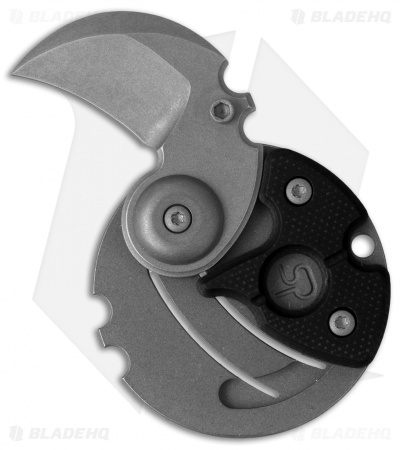 "Serge Panchenko Coin Claw Folder Knife Black G-10 (1"" Tumbled)"