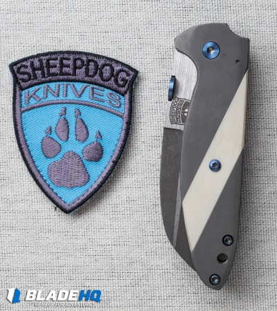 "Sheepdog Knives Deviant Frame Lock Knife Ti/Micarta (2.875"" Two-Tone)"