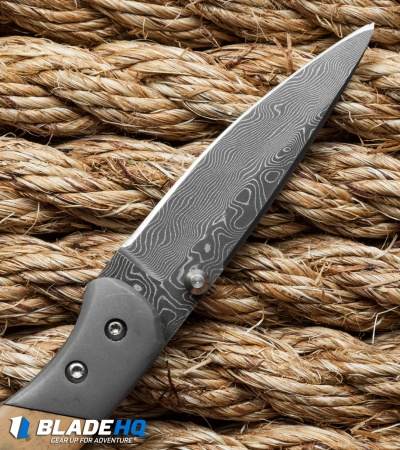 "Sheepdog Knives SF Sunday Folder Knife Ti/Mammoth (2.625"" Damascus)"