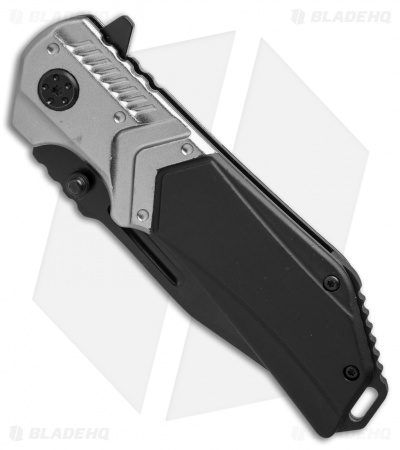 "Smith & Wesson M&P Liner Lock Clip Point Knife Black/Gray (3.6"" Black Serr)"