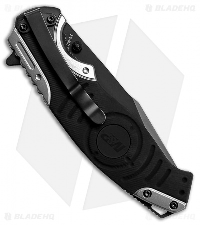 "Smith & Wesson M&P Liner Lock Knife Gray/Black (3.4"" Black Serr) SWMP13GS"
