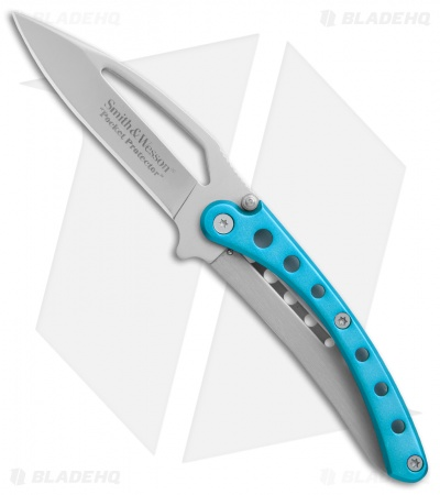 "Smith & Wesson Pocket Protector Frame Lock Knife Blue (2.625"" Gray)"