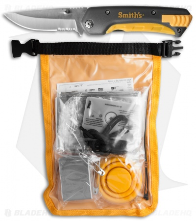 Smith's Outdoor Survival Kit w/ Folding Knife 50540