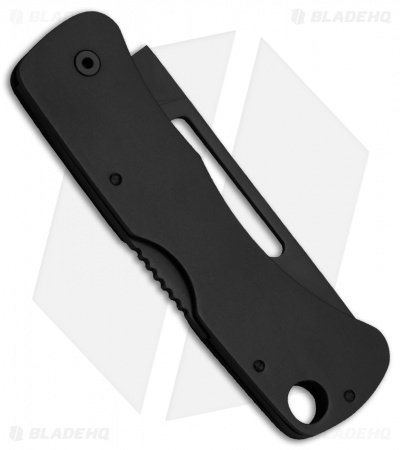 "SOG Centi II Lock Back Keychain Knife Black Stainless Steel (2.1"" Black)"