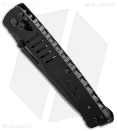 "SOG Targa Tanto Folding Knife Black (3.50"" Black) TG1002-BX"