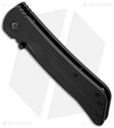 "Southern Grind Bad Monkey Tanto Knife Black G-10 (3.8"" Black Serr)"
