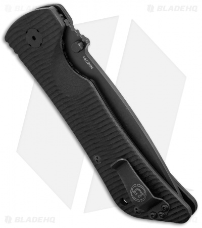 "Southern Grind Bad Monkey Drop Point Knife Black G-10 (4"" Black)"