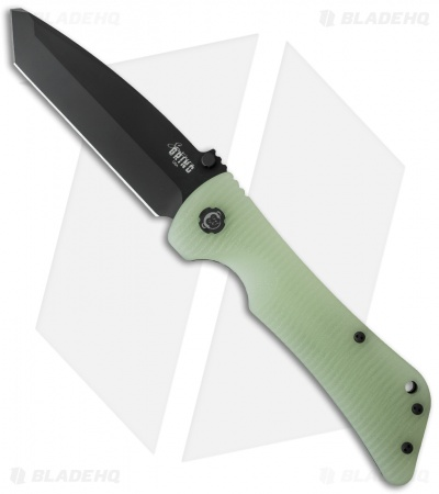 "Southern Grind Bad Monkey Tanto Knife Jade Ghost Green G-10 (3.8"" Black)"